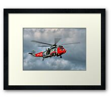 Royal Navy Search and Rescue Sea King Helicopter Framed Print