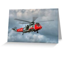 Royal Navy Search and Rescue Sea King Helicopter Greeting Card