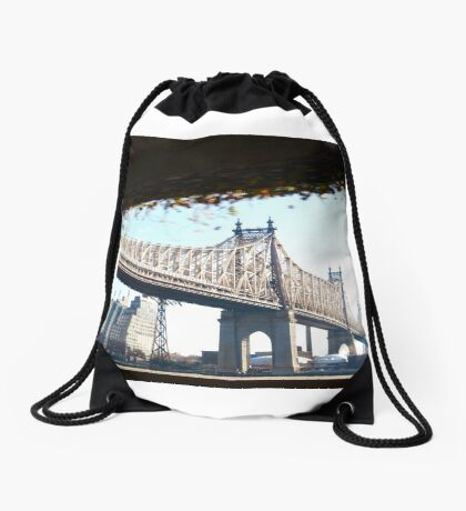 New York City Queensboro Bridge Drawstring Bag