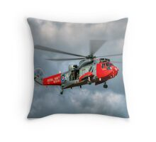 Royal Navy Search and Rescue Sea King Helicopter Throw Pillow