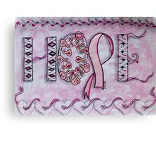 Hope (Breast Cancer Awareness) Canvas Print