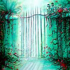 Green Skeleton Gate by Heather Calderon