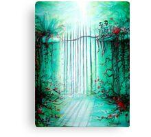 Green Skeleton Gate Canvas Print