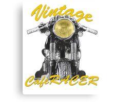 Vintage Cafe Racer Canvas Print