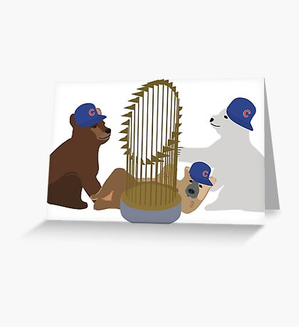 Chicago Cubs World Series Champions Greeting Card