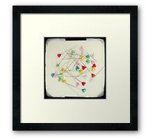 I heart pins Framed Print