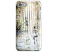 Grey Skeleton Gate iPhone Case/Skin