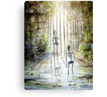 Grey Skeleton Gate Canvas Print