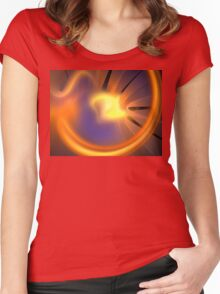 Orange Sunburst Women's Fitted Scoop T-Shirt