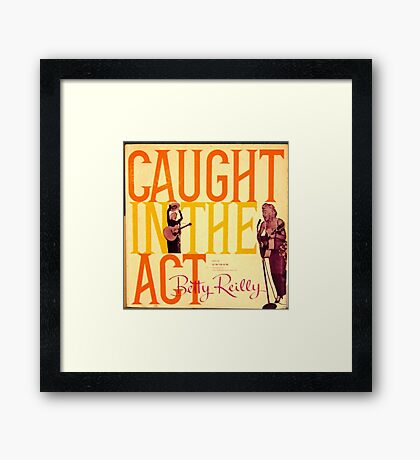 Caught In The Act, Bawdy Comedy lp, Guitar Lady Framed Print