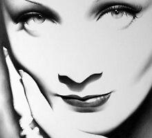 Marlene Dietrich Minimal Portrait by IleanaHunterArt