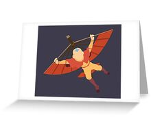 Is it a bird? Is it a plane? NO ITS AANG! Greeting Card
