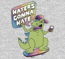 """""""Haters Gonna Hate"""" Reptar (white) One Piece - Short Sleeve"""