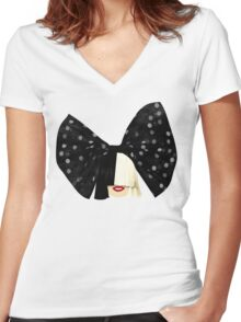 Big Bow Women's Fitted V-Neck T-Shirt