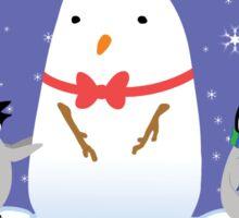 Snow Penguins Sticker