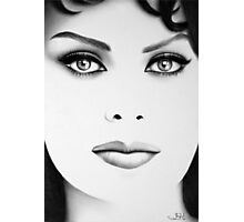 Sophia Loren Minimal Portrait Photographic Print