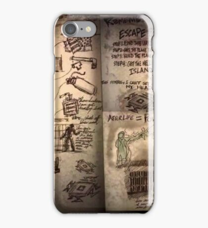 The Weasel's plans book iPhone Case/Skin