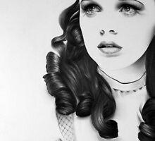 Judy Garland Minimal Portrait by IleanaHunterArt