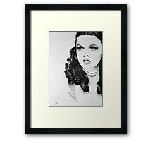 Judy Garland Minimal Portrait Framed Print