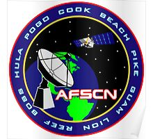 Air Force Satellite Control Network (AFSCN) Logo Poster