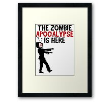 The Zombie Apocalypse Is Here - Funny Anti TV T Shirt Framed Print