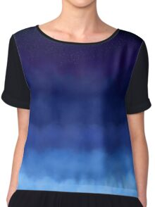 Several Layers of Clouds Chiffon Top