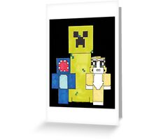 Squid And Stampy Greeting Card