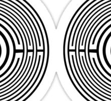 maze - labyrinth Sticker