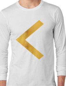 Arrow in Bold Gold Long Sleeve T-Shirt