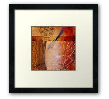 The glint of light on broken glass Framed Print