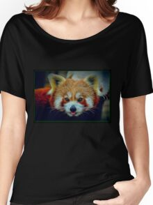 Red Panda with border Women's Relaxed Fit T-Shirt
