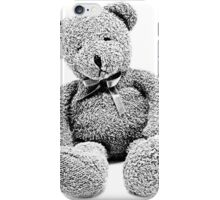 Cuddly Teddy Bear. Vintage Teddy Bear. Antique Teddy Bear. Teddy Bear Engraving. iPhone Case/Skin