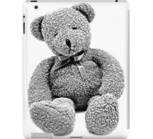 Cuddly Teddy Bear. Vintage Teddy Bear. Antique Teddy Bear. Teddy Bear Engraving. iPad Case/Skin