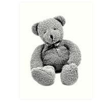 Cuddly Teddy Bear. Vintage Teddy Bear. Antique Teddy Bear. Teddy Bear Engraving. Art Print