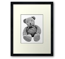 Cuddly Teddy Bear. Vintage Teddy Bear. Antique Teddy Bear. Teddy Bear Engraving. Framed Print