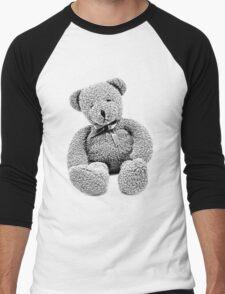 Cuddly Teddy Bear. Vintage Teddy Bear. Antique Teddy Bear. Teddy Bear Engraving. Men's Baseball ¾ T-Shirt
