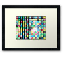 Black Grid Canvas Framed Print
