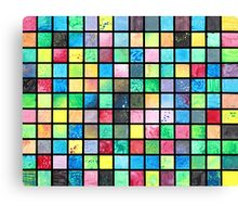 Black Grid Canvas Canvas Print