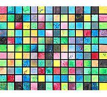 Black Grid Canvas Photographic Print