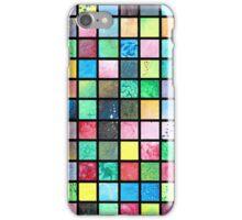 Black Grid Canvas iPhone Case/Skin