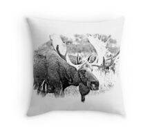 Bull Moose. Wildlife Moose. Moose Antlers. Canadian Moose. Alaskan Moose. Throw Pillow