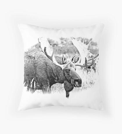 Bull Moose. Wildlife Moose. Moose Antlers. Canadian Moose. Alaskan Moose. Throw Pillow