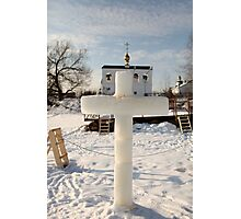 ice cross Photographic Print