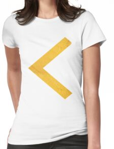 Arrow in Gold Womens Fitted T-Shirt