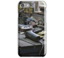 workbench in the workshop iPhone Case/Skin