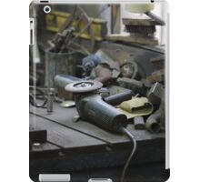 workbench in the workshop iPad Case/Skin