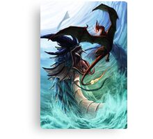 gyarados vs charizard Canvas Print