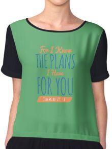 Jeremiah 29:11 - Bible Verse T-shirts Chiffon Top