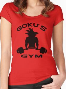 Goku`s Gym Women's Fitted Scoop T-Shirt