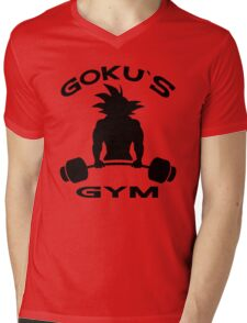 Goku`s Gym Mens V-Neck T-Shirt